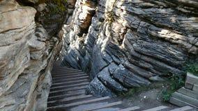 Escadas da rocha Fotos de Stock Royalty Free