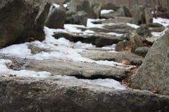 escadas da rocha Imagem de Stock