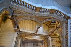 Escadas das câmaras da cidade imagem de stock