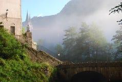 Escadas das promessas Covadonga foto de stock