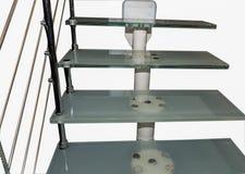 Escadas de aço do trilho imagem de stock royalty free