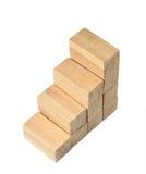 Escadas de blocos de madeira da cor natural Imagens de Stock Royalty Free
