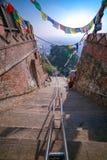 Escadas de escalada imagens de stock