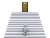 Escadas de escalada para encontrar o trabalho Imagens de Stock