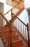 Escadas de madeira fotografia de stock royalty free