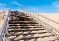 Escadas de madeira Fotografia de Stock
