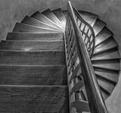 Escadas de madeira Foto de Stock Royalty Free