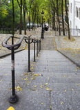 Escadas de Montmartre, Paris fotos de stock