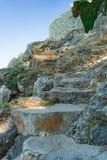escadas de pedra do verão Foto de Stock Royalty Free