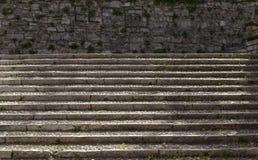Escadas de pedra em Bríxia fotografia de stock royalty free