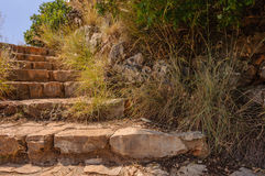 Escadas de pedra em uma montanha Foto de Stock