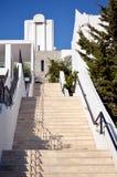 Escadas de pedra longas com muitas etapas Imagens de Stock Royalty Free
