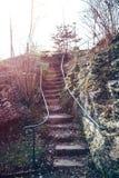Escadas de pedra na natureza Fotos de Stock Royalty Free