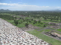 Escadas de Teotihuacan Foto de Stock