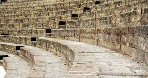 Escadas de um anfiteatro antigo de Pompeia Italy foto de stock