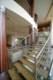 Escadas do cromo Imagens de Stock