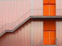 Escadas do escape de incêndio Imagens de Stock Royalty Free