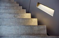 Escadas do estilo do minimalismo imagem de stock