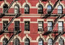 Escadas do fogo de New York Imagem de Stock