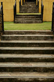 Escadas do jardim fotografia de stock