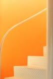 Escadas do metal branco Imagens de Stock
