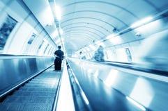 Escadas do metro. Movimento Fotos de Stock Royalty Free