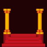 Escadas do pódio da etapa ilustração royalty free