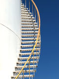 Escadas do tanque de armazenamento Fotografia de Stock Royalty Free