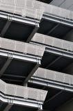 Escadas e balcão do edifício moderno Fotografia de Stock Royalty Free