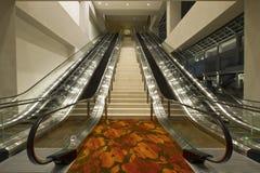 Escadas e escadas rolantes do centro de convenção Foto de Stock Royalty Free