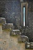 Escadas e janela em uma fortaleza fotografia de stock