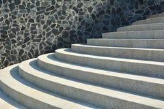 Escadas e parede exteriores do granito Imagens de Stock Royalty Free