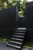 Escadas e paredes pretas Imagem de Stock Royalty Free