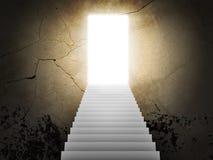 Escadas e portas da mágica ilustração do vetor