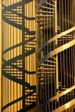 Escadas e sombras do Corkscrew imagem de stock