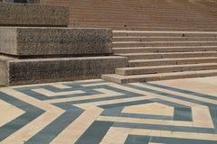 Escadas e teste padrão de pedra do assoalho Fotografia de Stock Royalty Free