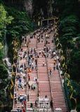 Escadas em cavernas de Batu, Kuala Lumpur Imagens de Stock Royalty Free