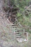 Escadas em Holland Lake Park em Weatherford Texas Fotografia de Stock