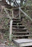 Escadas em Holland Lake Park em Weatherford Texas Fotografia de Stock Royalty Free