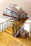 Escadas em um museu fotografia de stock royalty free
