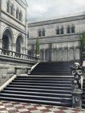 Escadas em um pátio ilustração royalty free