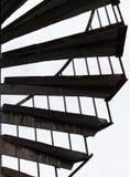 Escadas espirais na parte externa de uma construção imagem de stock royalty free