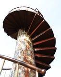 Escadas espirais oxidadas. Fotografia de Stock Royalty Free