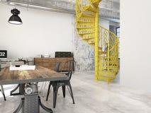 Escadas espirais rendição 3d Fotos de Stock