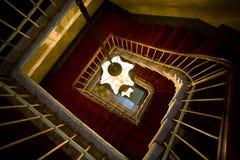Escadas espirais velhas fotos de stock royalty free