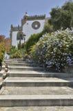Escadas à igreja Imagem de Stock