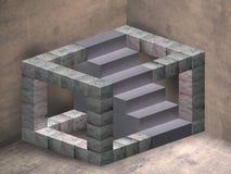Escadas impossíveis ilustração royalty free