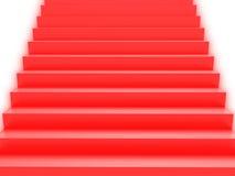 Escadas macias do vermelho da cor Fotos de Stock