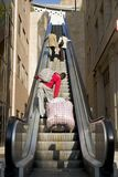 Escadas mecânicas mim Fotografia de Stock