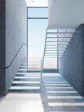 Escadas modernas na sótão de luxo Fotos de Stock